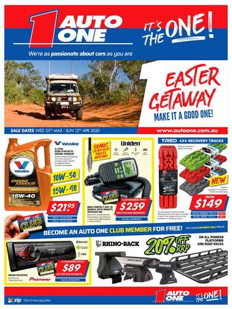 Auto One catalogue (valid until 12-04)