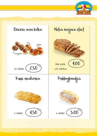 Bakkerij 't Stoepje reclame folder (geldig t/m 11-04)
