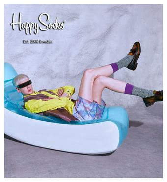 Happy Socks reclame folder (geldig t/m 15-07)
