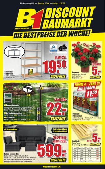 B1 Discount Baumarkt Prospekt (bis einschl. 17-04)