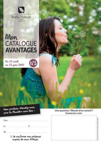 Body Nature catalogue publicitaire (valable jusqu'au 30-05)