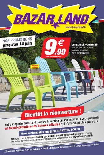 Bazarland catalogue publicitaire (valable jusqu'au 14-06)