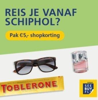 Schiphol reclame folder (geldig t/m 31-05)