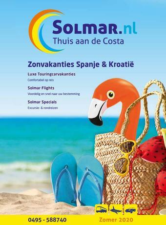 Solmar Busreizen reclame folder (geldig t/m 30-09)