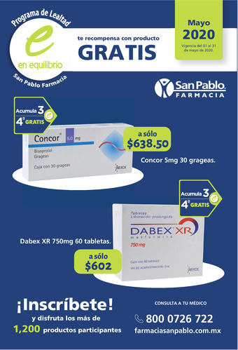 Farmacia San Pablo catálogo (válido hasta 31-05)