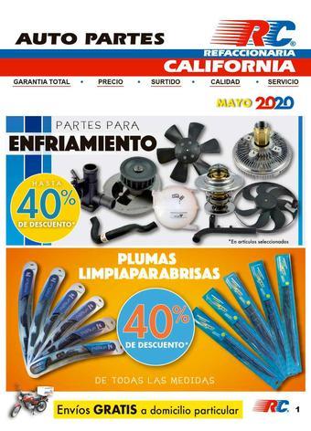 Refaccionaria California catálogo (válido hasta 31-05)