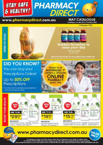 Pharmacy Direct catalogue (valid until 31-05)