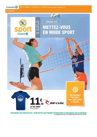 E.Leclerc Sports catalogue publicitaire (valable jusqu'au 20-06)
