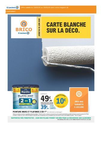 E.Leclerc Brico catalogue publicitaire (valable jusqu'au 30-05)