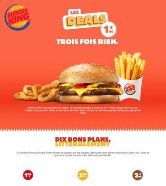 Burger King catalogue publicitaire (valable jusqu'au 31-05)