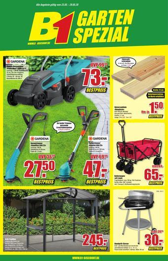 B1 Discount Baumarkt Prospekt (bis einschl. 29-05)