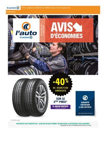 E.Leclerc L'Auto catalogue publicitaire (valable jusqu'au 06-06)