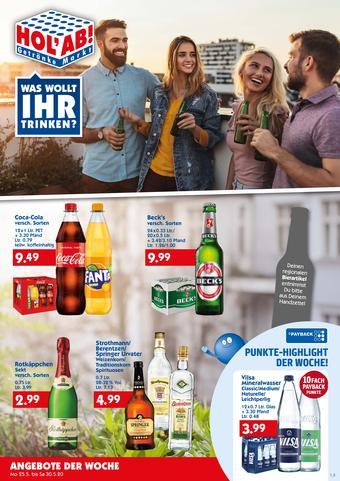 Hol'ab Getränkemarkt Prospekt (bis einschl. 30-05)