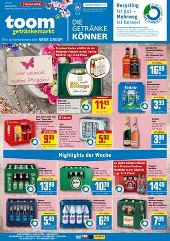 toom Getränkemarkt Prospekt (bis einschl. 30-05)
