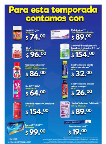 Farmacias Similares catálogo (válido hasta 31-05)