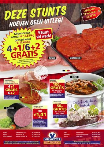 Vleesmeester reclame folder (geldig t/m 02-06)