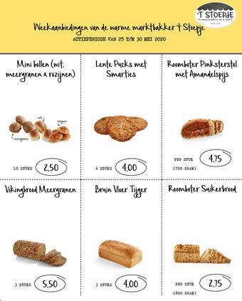 Bakkerij 't Stoepje reclame folder (geldig t/m 30-05)