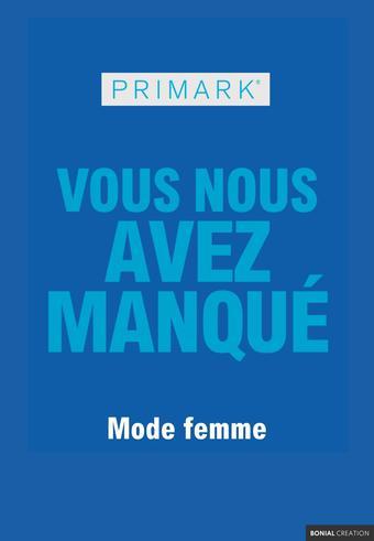 Primark catalogue publicitaire (valable jusqu'au 31-08)