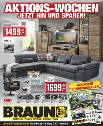 Möbel Braun Prospekt (bis einschl. 30-06)