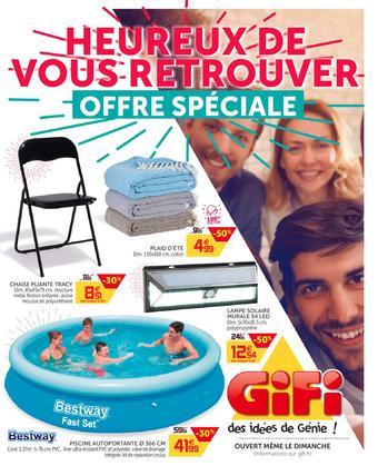 Gifi catalogue publicitaire (valable jusqu'au 01-06)