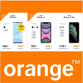 Orange reclame folder (geldig t/m 30-06)