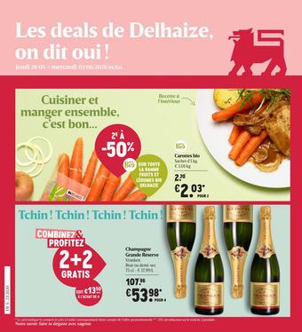 Delhaize reclame folder (geldig t/m 03-06)