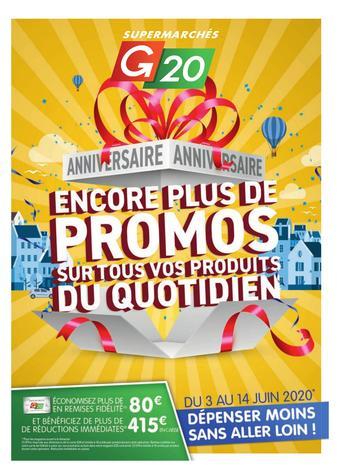 G20 catalogue publicitaire (valable jusqu'au 14-06)