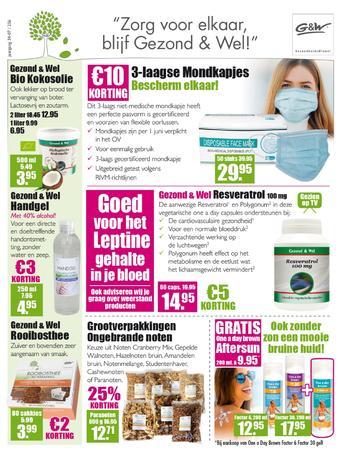 Gezond & Wel reclame folder (geldig t/m 14-06)