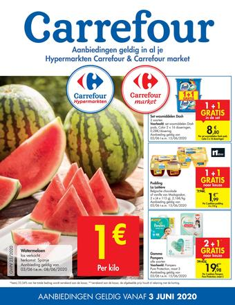 Carrefour Market reclame folder (geldig t/m 15-06)