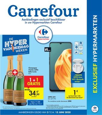 Hyper Carrefour reclame folder (geldig t/m 15-06)