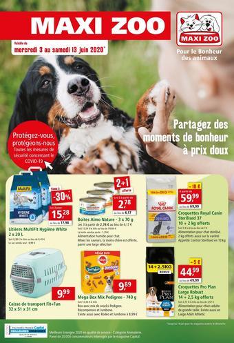 Maxi Zoo catalogue publicitaire (valable jusqu'au 13-06)