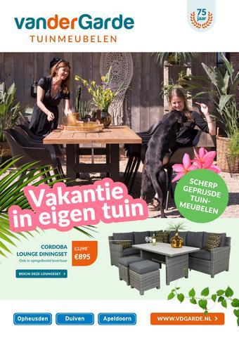 Van der Garde tuinmeubelen reclame folder (geldig t/m 07-06)
