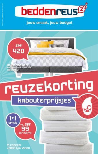 Beddenreus reclame folder (geldig t/m 28-06)