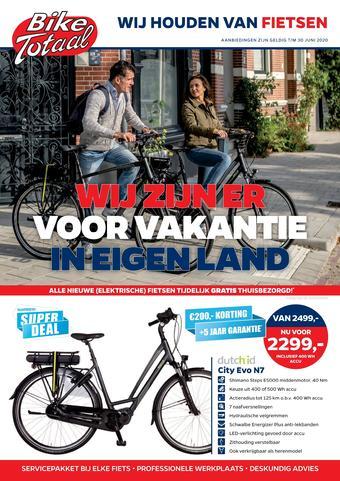 Bike Totaal reclame folder (geldig t/m 30-06)