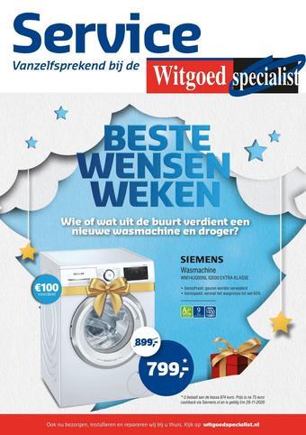 Witgoed specialist reclame folder (geldig t/m 08-11)
