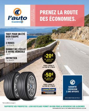 E.Leclerc L'Auto catalogue publicitaire (valable jusqu'au 11-07)