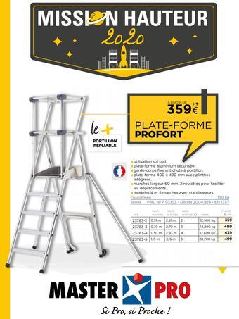 Master Pro catalogue publicitaire (valable jusqu'au 30-10)