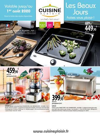 Cuisine Plaisir catalogue publicitaire (valable jusqu'au 01-08)