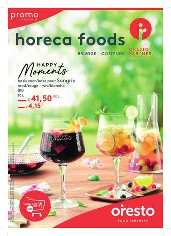 Horeca Foods reclame folder (geldig t/m 20-07)