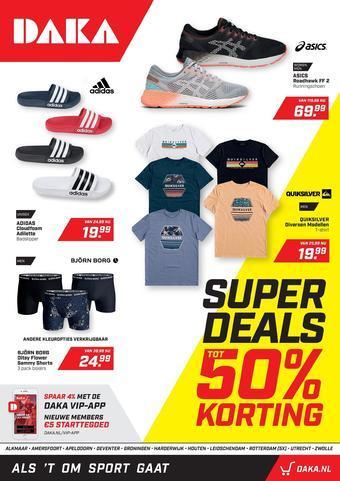 Daka Sport reclame folder (geldig t/m 05-07)