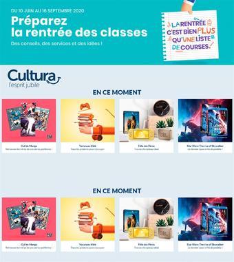 Cultura catalogue publicitaire (valable jusqu'au 16-09)