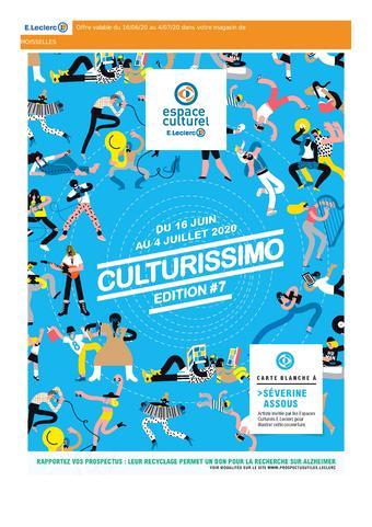 Espace Culturel E.Leclerc catalogue publicitaire (valable jusqu'au 04-07)
