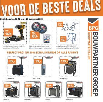 BPG Bouwpartner Groep reclame folder (geldig t/m 20-08)