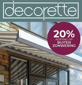 Decorette reclame folder (geldig t/m 31-07)