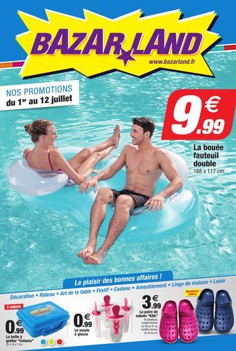 Bazarland catalogue publicitaire (valable jusqu'au 12-07)