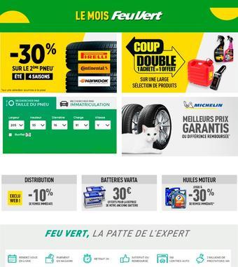 Feu Vert catalogue publicitaire (valable jusqu'au 15-07)