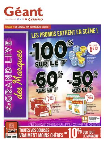 Géant Casino catalogue publicitaire (valable jusqu'au 05-07)