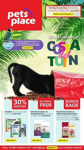 Pets Place reclame folder (geldig t/m 05-07)