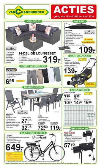 Van Cranenbroek reclame folder (geldig t/m 04-07)