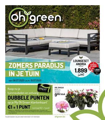 Oh Green reclame folder (geldig t/m 19-07)